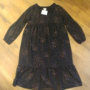 NWT NEW ISABEL Maternity Star Print Peasant Dress